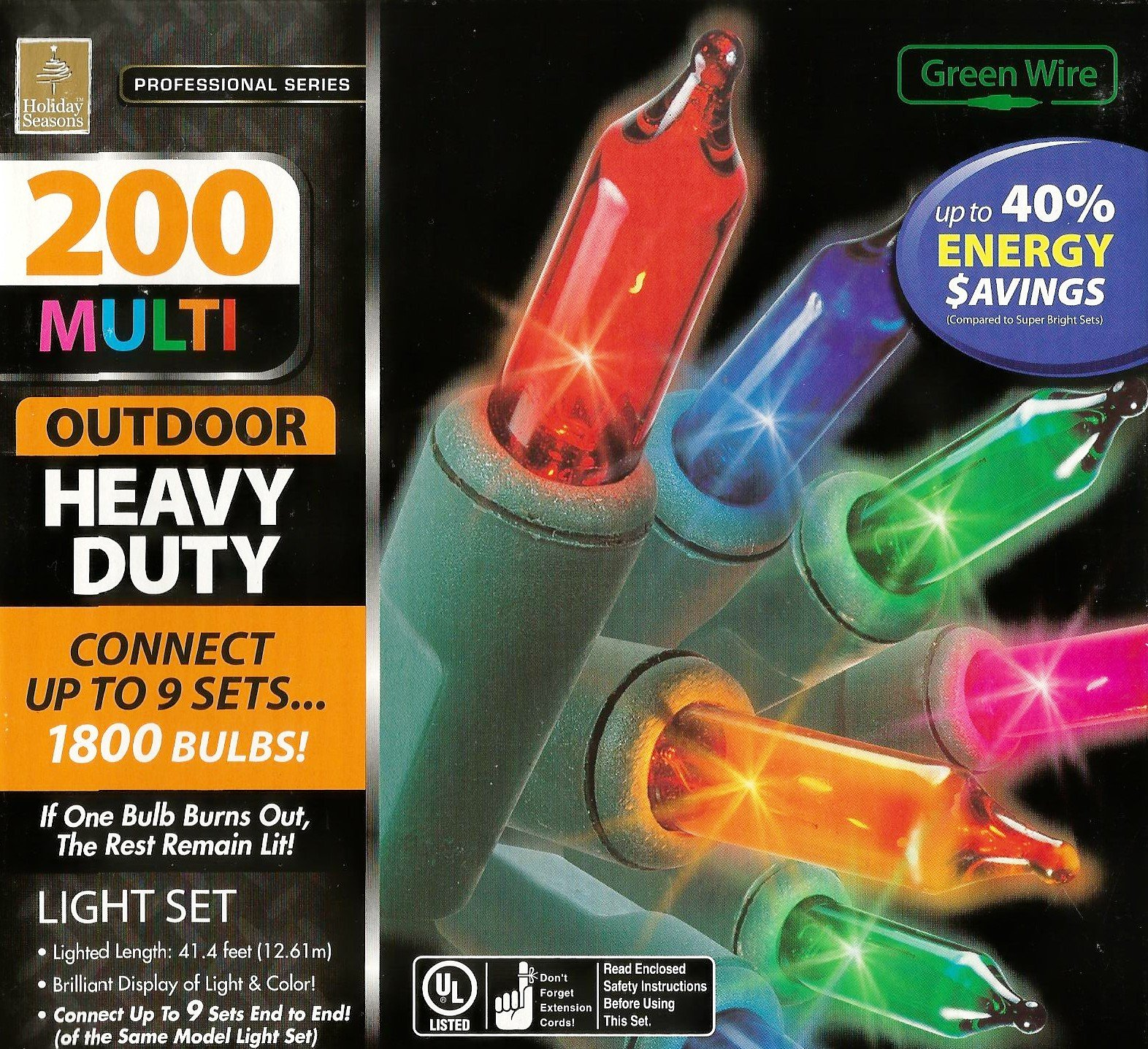 Professional Series 200 Multi Color Indoor/Outdoor Heavy Duty Light Set