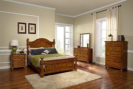 Amazon.com: New Classic 00-401-35N Cumberland 5-Piece Bedroom Set ...