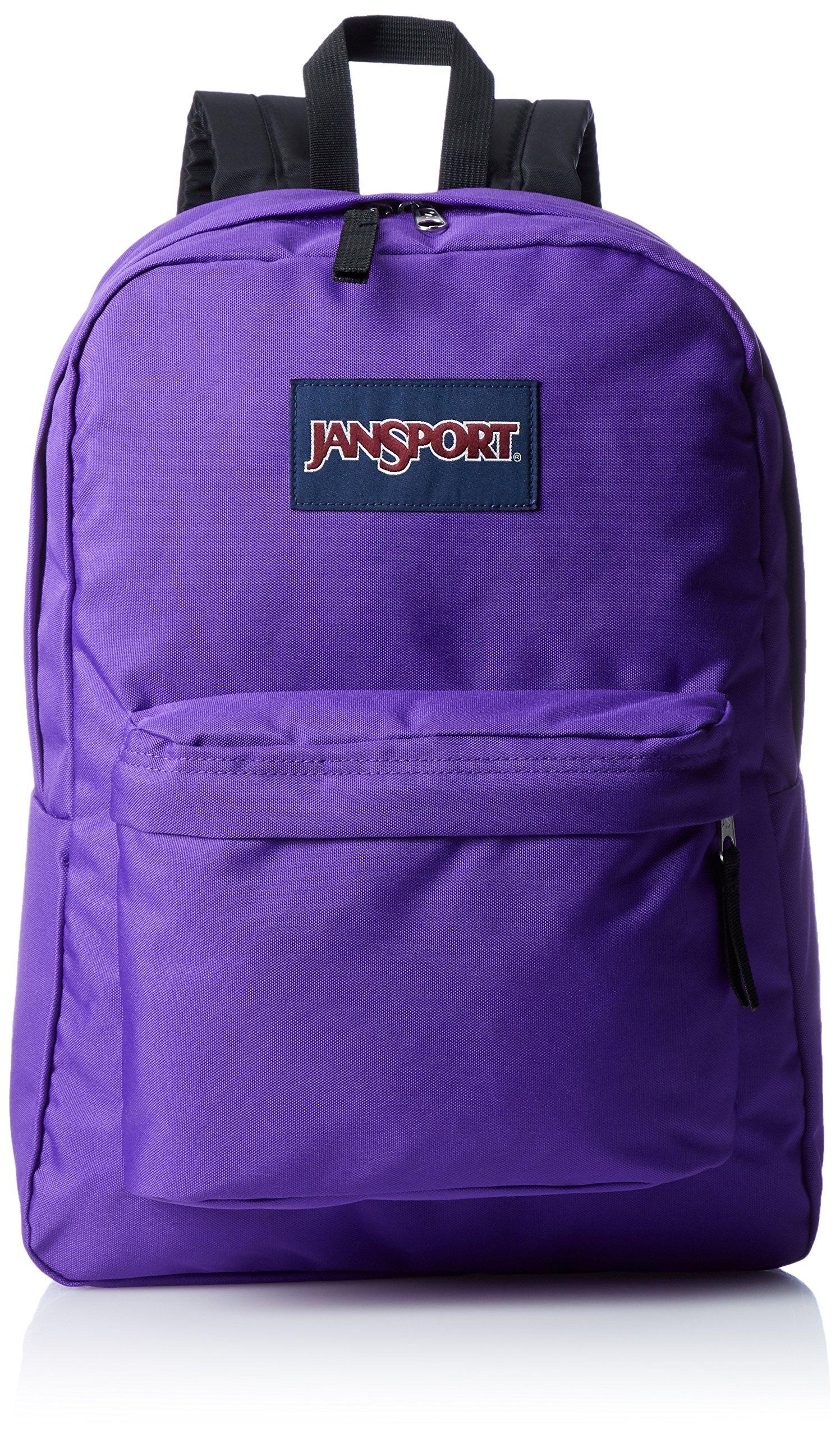 JanSport SuperBreak Backpack (Signature Purple)