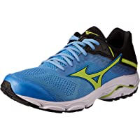 Mizuno Australia Men's Wave Inspire 15 Running Shoes, Azure Blue/Sharp Green/Black