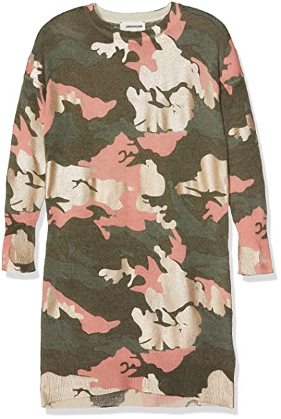 4b726549f32 Zadig   Voltaire Girl Camouflage Wool Dress Mod. X12064Z40 8 A ...