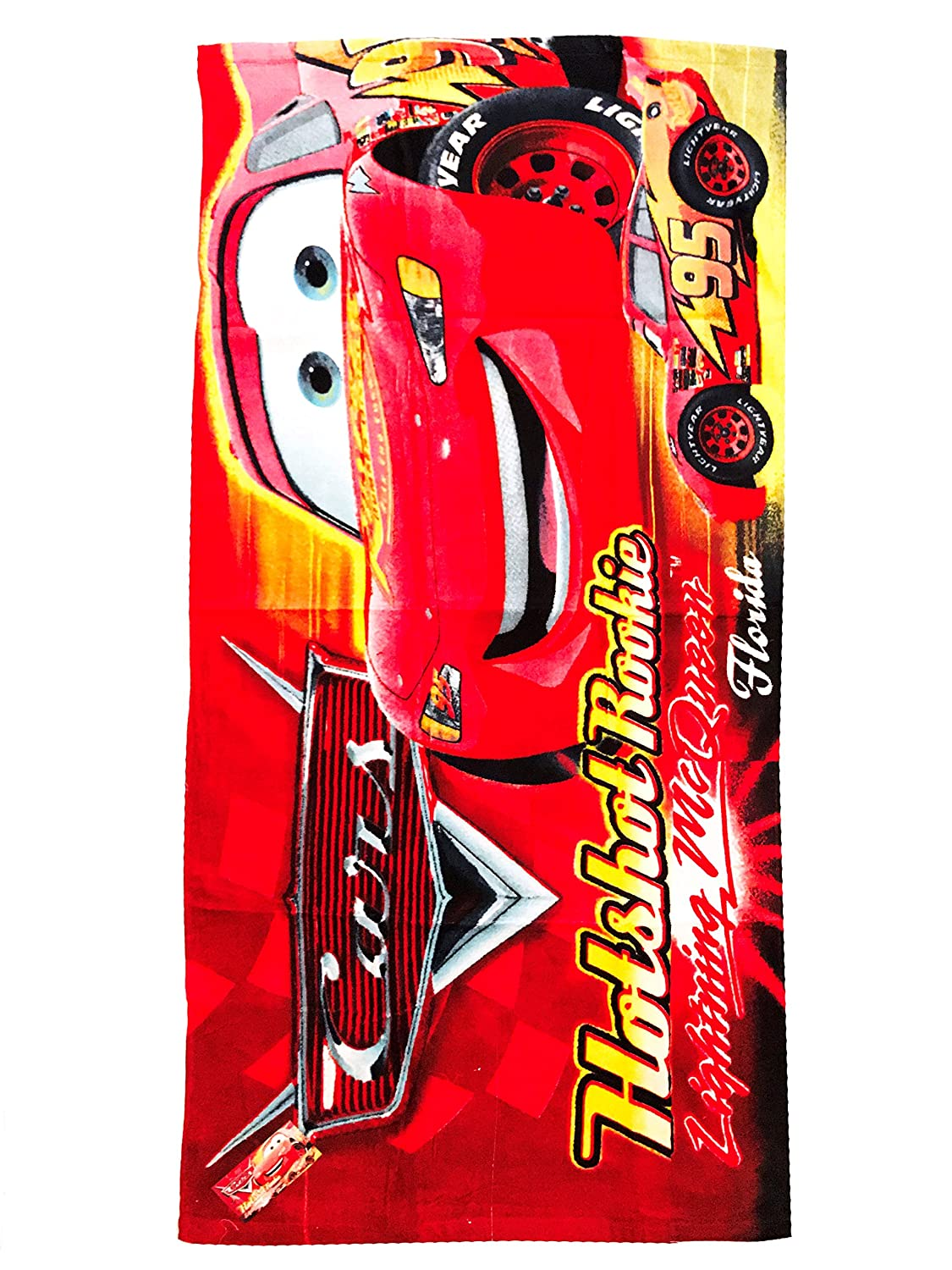 Cars Printed Terry Bath Towel 20X40 (Red)