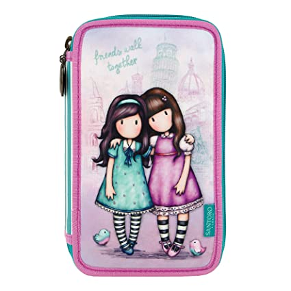 Estuche Plumier Triple Gorjuss - Friends Walk Together
