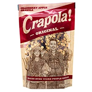 Granola Cereal by Crapola - Natural Granola with fruit and protein for a Healthy Breakfast