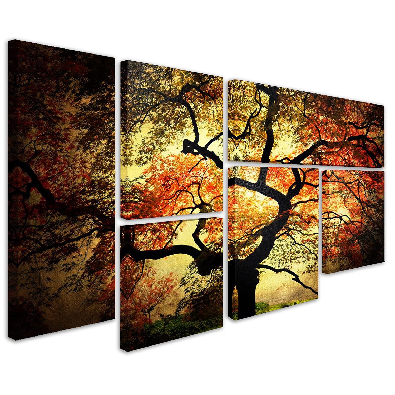 Amazon.com: Trademark Fine Art Japanese By Philippe Sainte Laudy Wall Decor,  6 Panel Set: Posters U0026 Prints