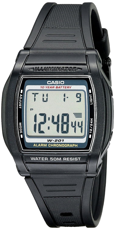 Casio Mens W201-1AV Chronograph Water Resistant Watch