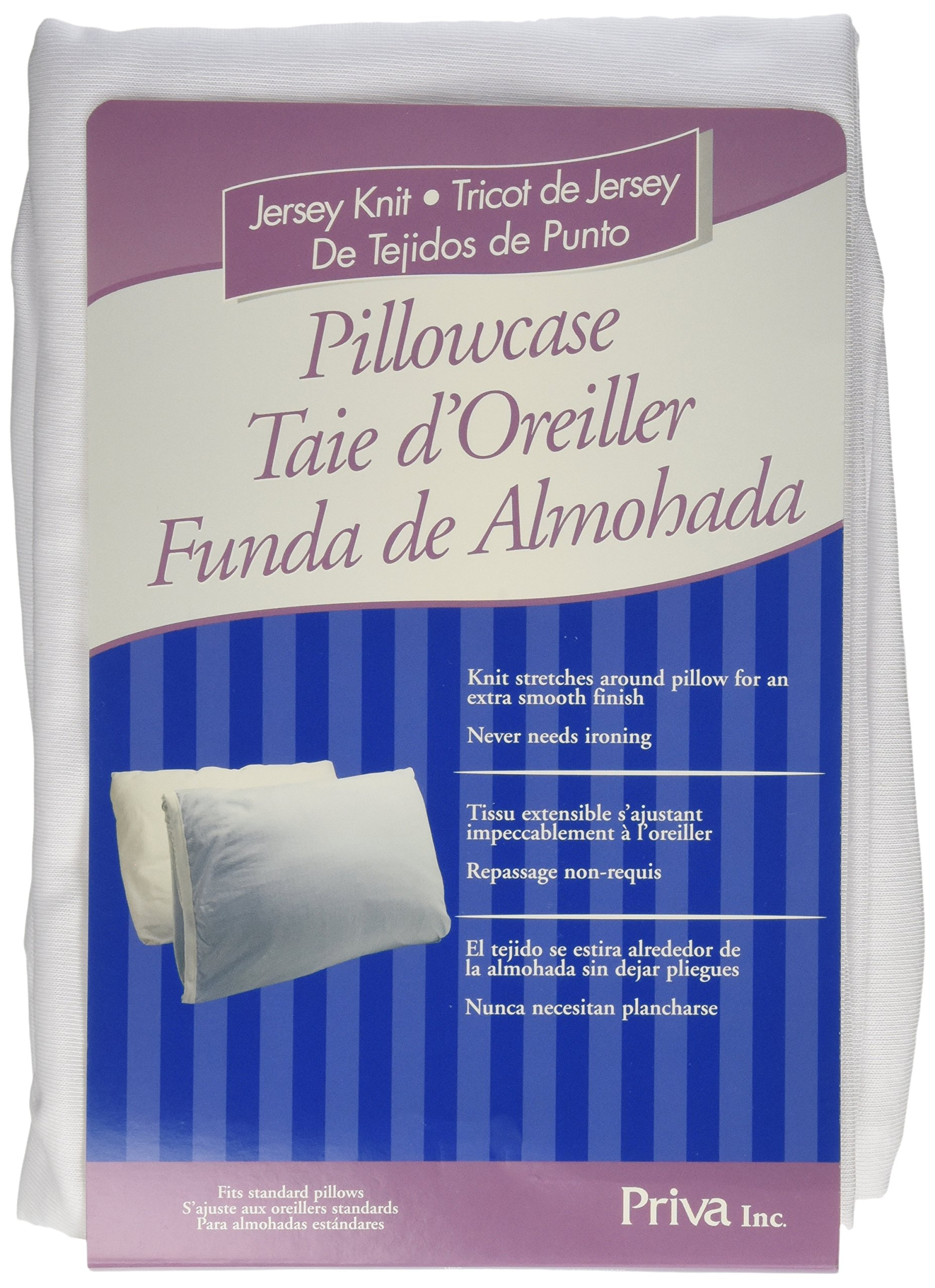 Priva Hospital Jersey Extra Smooth Jersey Pillowcase- Standard