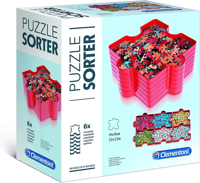 Clementoni- Pack 6 bandejas organizador Puzzle, Multicolor (37040 ...