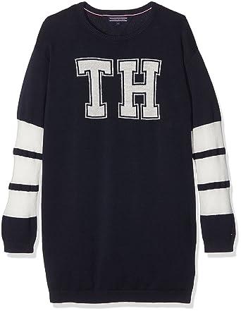Tommy Hilfiger Tommy Hilfiger Mädchen Kleid Iconic Sweater Dress L S  Kleider  Amazon.de  Bekleidung 41d0f6bea1