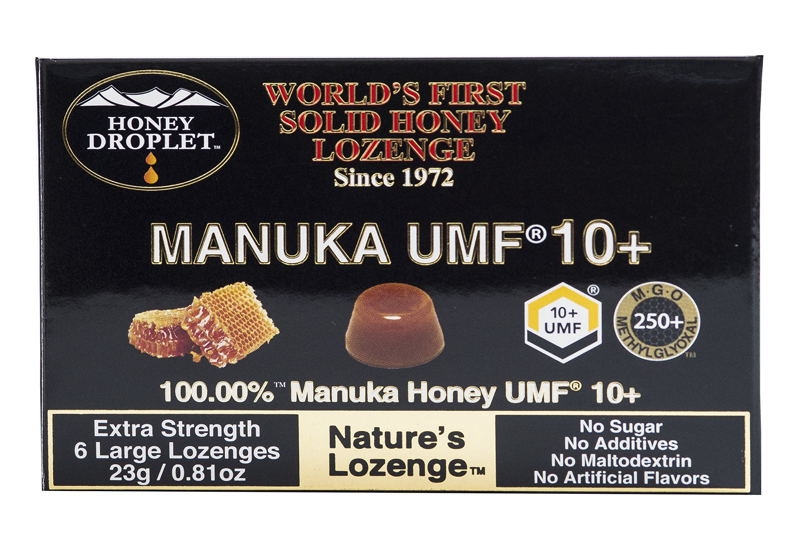 Pure 100% Manuka honey UMF 10+ in a solid form from New Zealand with no added sugar no maltodextrin non GMO a natural super-food antioxidant