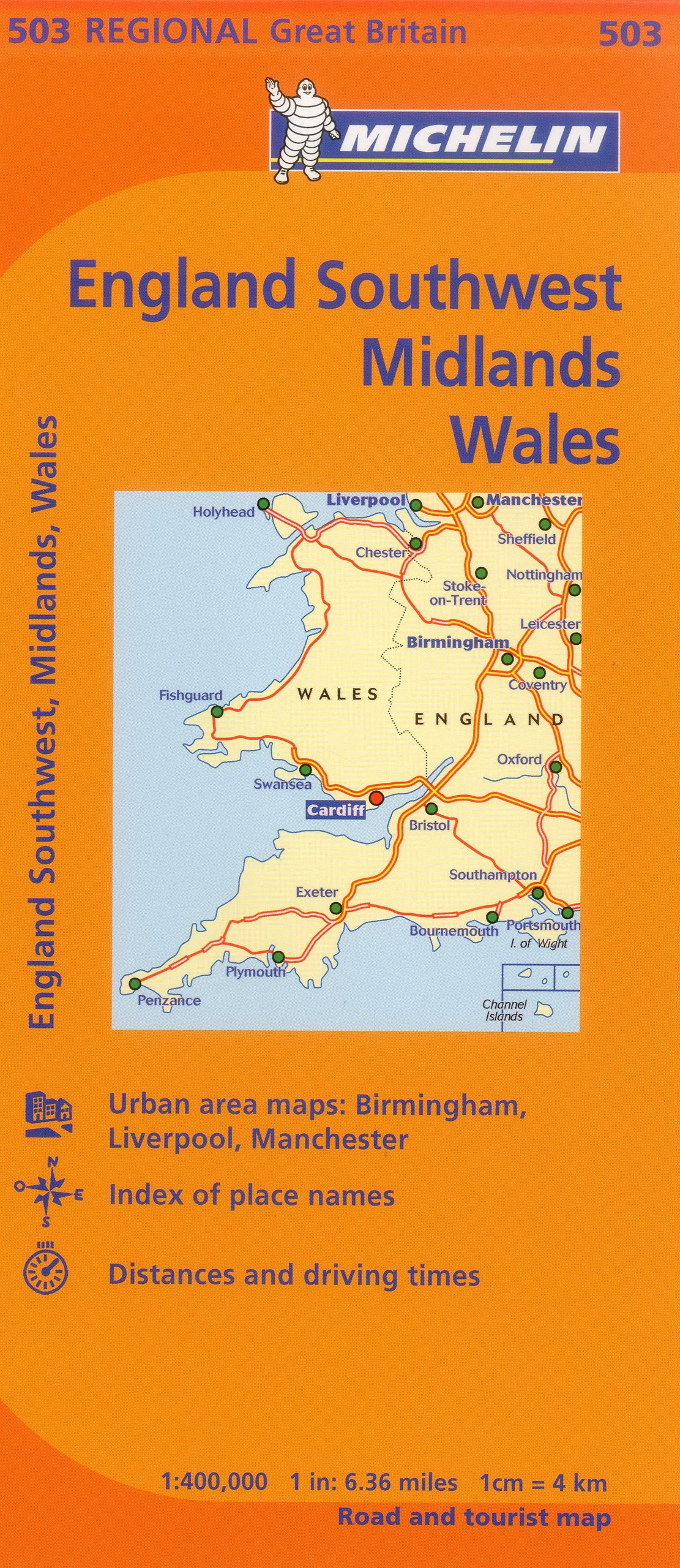 Map Of England Midlands.Michelin Map Great Britain Wales The Midlands South West England