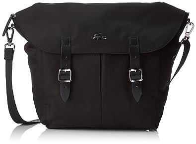 27fafd5a20 Lacoste Women s L1212 Concept Nylon Cross-Body Bag black black (black)