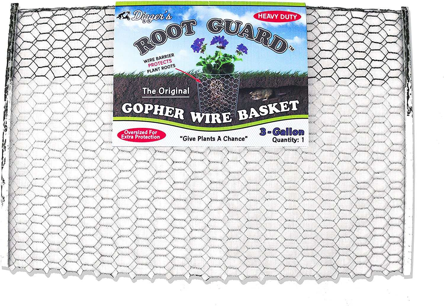 12 QTY Digger's RootGuardTM 3-Gallon Heavy Duty Gopher Wire Baskets