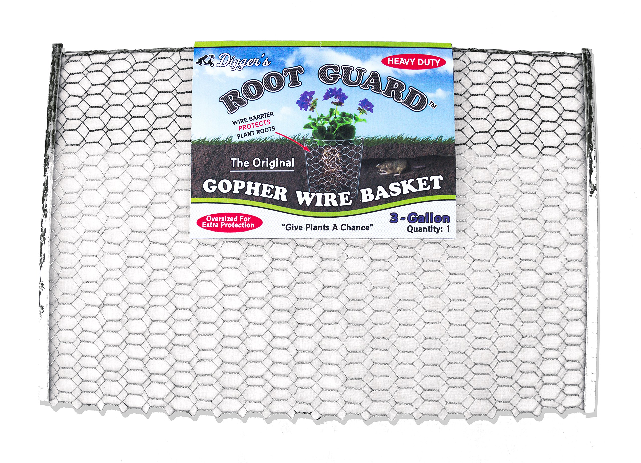 12 QTY Digger's RootGuardTM 3-Gallon Heavy Duty Gopher Wire Baskets by RootGuardTM