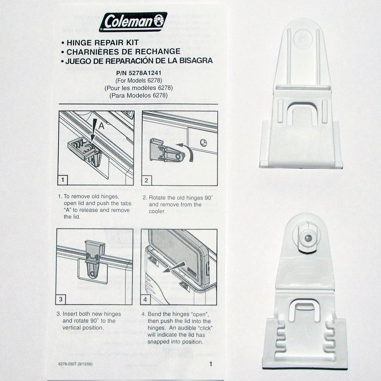 Coleman Cooler Hinge Repair Kit - for Models 6277 & 6278 - Replacement Parts