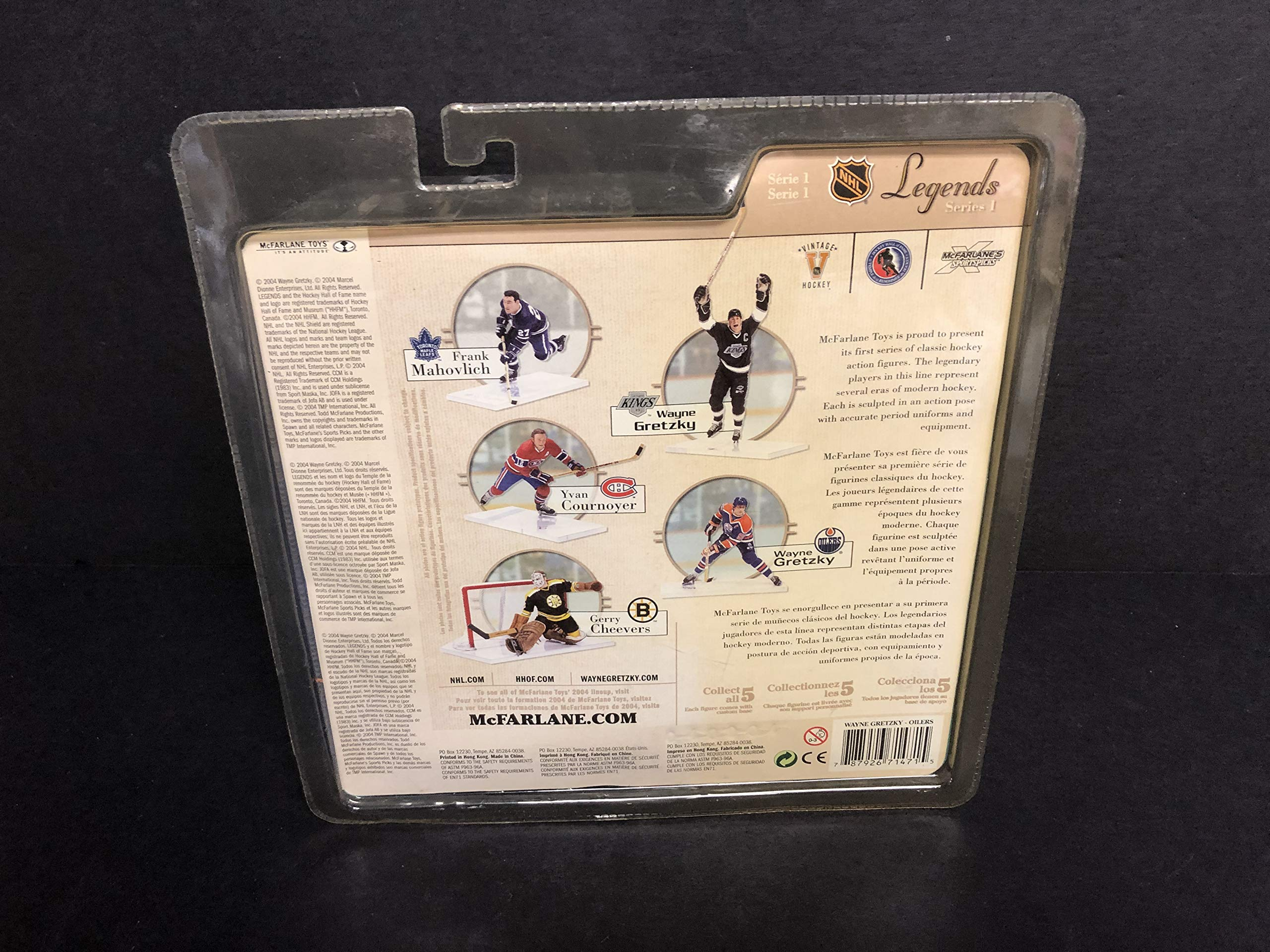 Wayne Gretzky Oilers McFarlane Legends Series 1 Action Figure with Hockey Stick