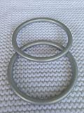 Large Pair of Silver Aluminum Sling Rings