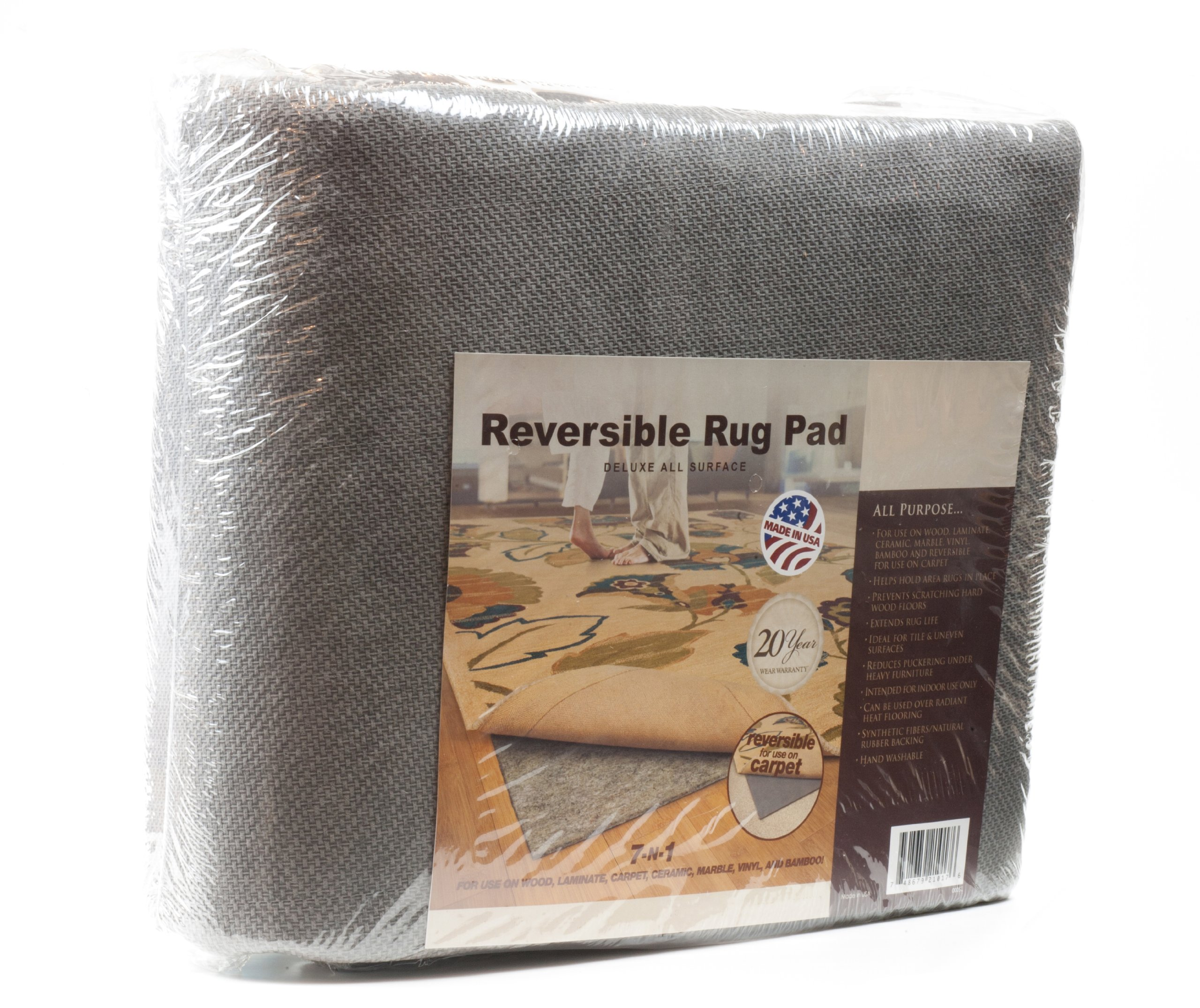 Deluxe All-Surface Non-skid Area Rug Pad for 10-Feet x 14-Feet Rug by Granville Rugs