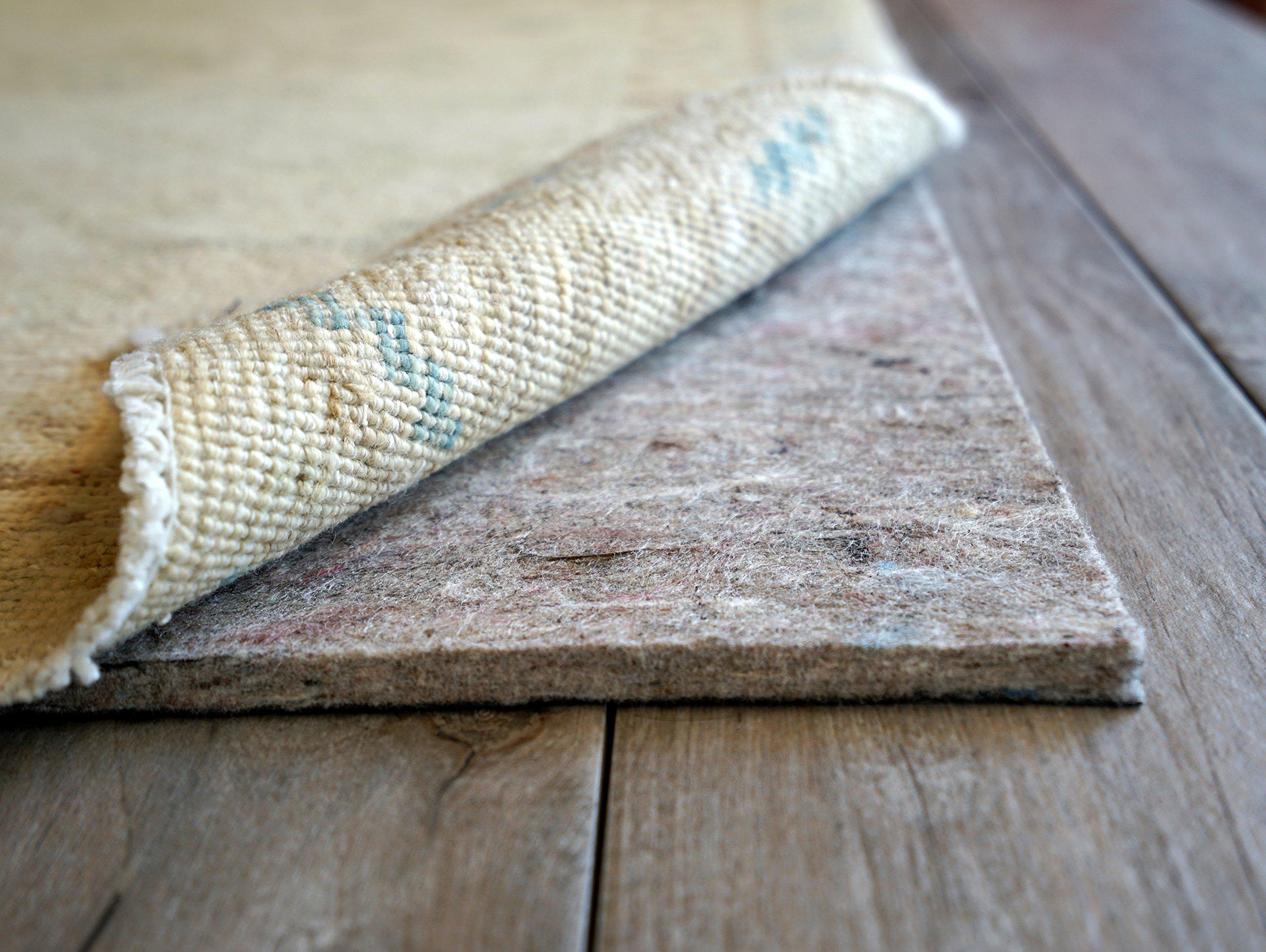 Rug Pad USA, 1/4'' Thick, Felt and Rubber, 9'x13', Superior Lock- Premium Non Slip Rug Padding for Hardwood Floors by Rug Pad USA (Image #2)