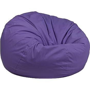 Amazon Com Flash Furniture Oversized Solid Purple Bean
