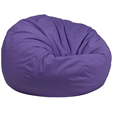 Swell Flash Furniture Oversized Solid Purple Bean Bag Chair Theyellowbook Wood Chair Design Ideas Theyellowbookinfo