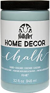 FolkArt Home Decor Chalk Furniture & Craft Paint in Assorted Colors, 32 ounce, Cascade