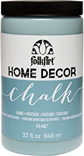 product image for FolkArt Home Decor Chalk Furniture & Craft Paint in Assorted Colors, 32 ounce, Cascade