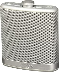 iHome Rechargeable, Bluetooth wireless Stereo Speaker in Silver with case, portable bottle style, outdoor and indoor, quality speaker