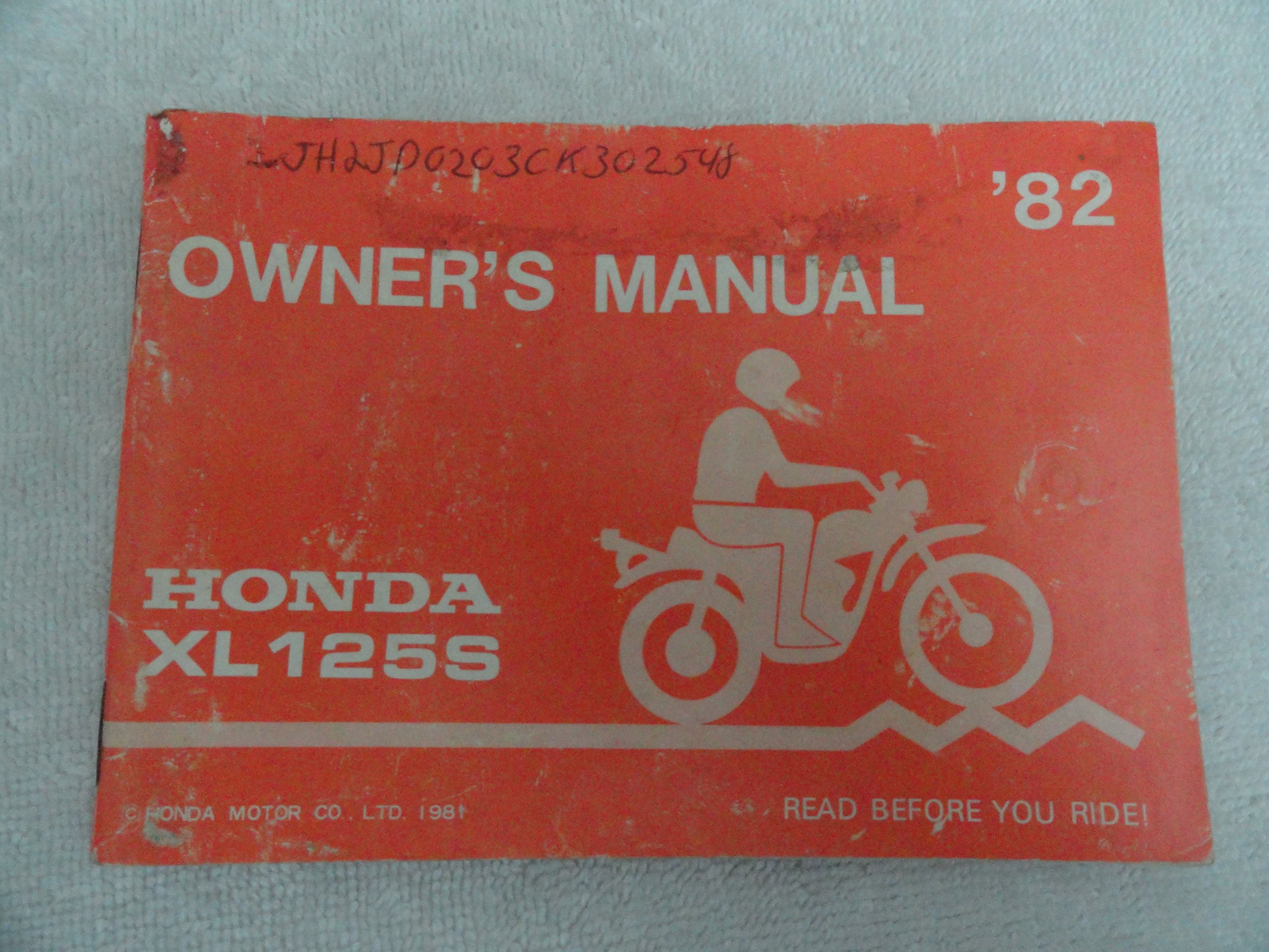1982 Honda Xl125 Owners Manual Xl 125 S Books Wiring Diagram