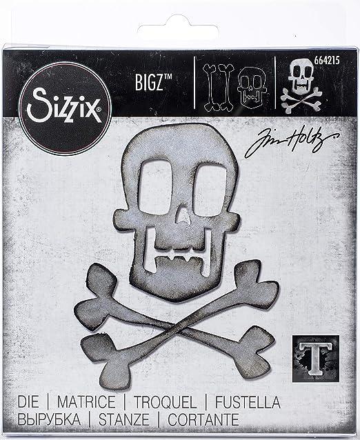 Sizzix Calavera y Huesos cruzados 664215 Bigz Die nuevo Pirata Halloween