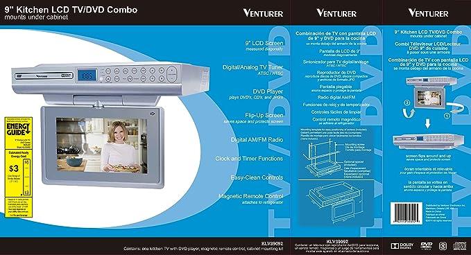 amazon com venturer 9 under cabinet lcd tv dvd combination product