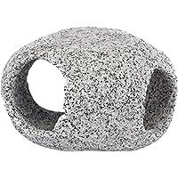Penn Plax Stone Replica Aquarium Decoration Realistic Granite Look with Fish Hideaway Stackable