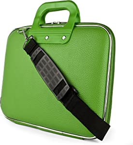 "Green Laptop Carrying Case Bag for HP EliteBook Elite x2 Envy ProBook Spectre x360 Stream ChromeBook 11"" to 12 inch"