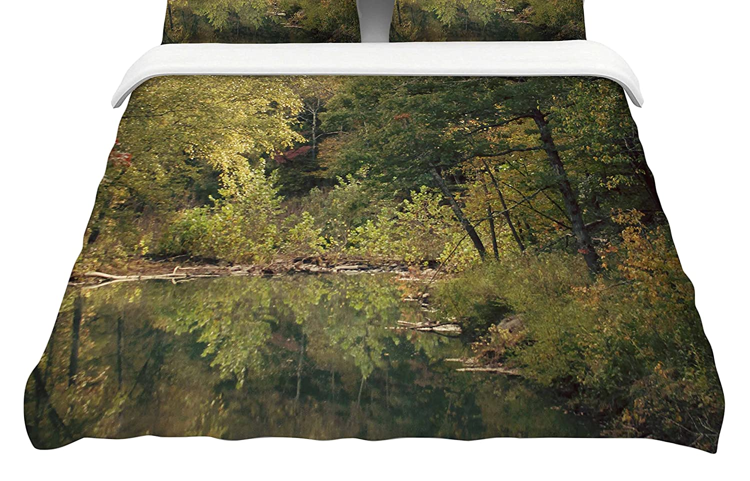 Kess InHouse Sylvia Coomes in The Woods 3' Featherweight Queen Duvet Cover, 88 x 88,