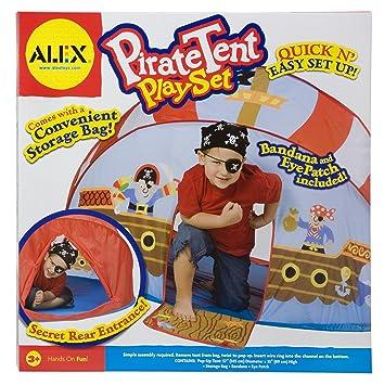ALEX Toys Pirate Pop-Up Tent Play Set  sc 1 st  Amazon.com & Amazon.com: ALEX Toys Pirate Pop-Up Tent Play Set: Toys u0026 Games