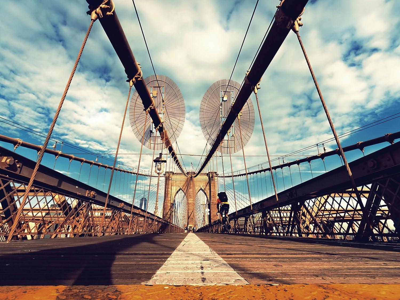 Wandbilder Glasbilder Druck auf Glas 125x50 Brücke Stadt Architektur