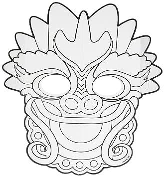 Amscan – 360200 chino año nuevo color tu propio dragón máscara