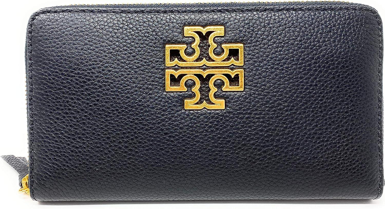 Tory Burch Britten Zip Continental Black/Rolled Gold 60413 0819