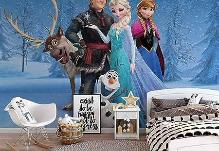 Disney Frozen Elsa Anna Olaf Sven Photo Wallpaper Wall Mural