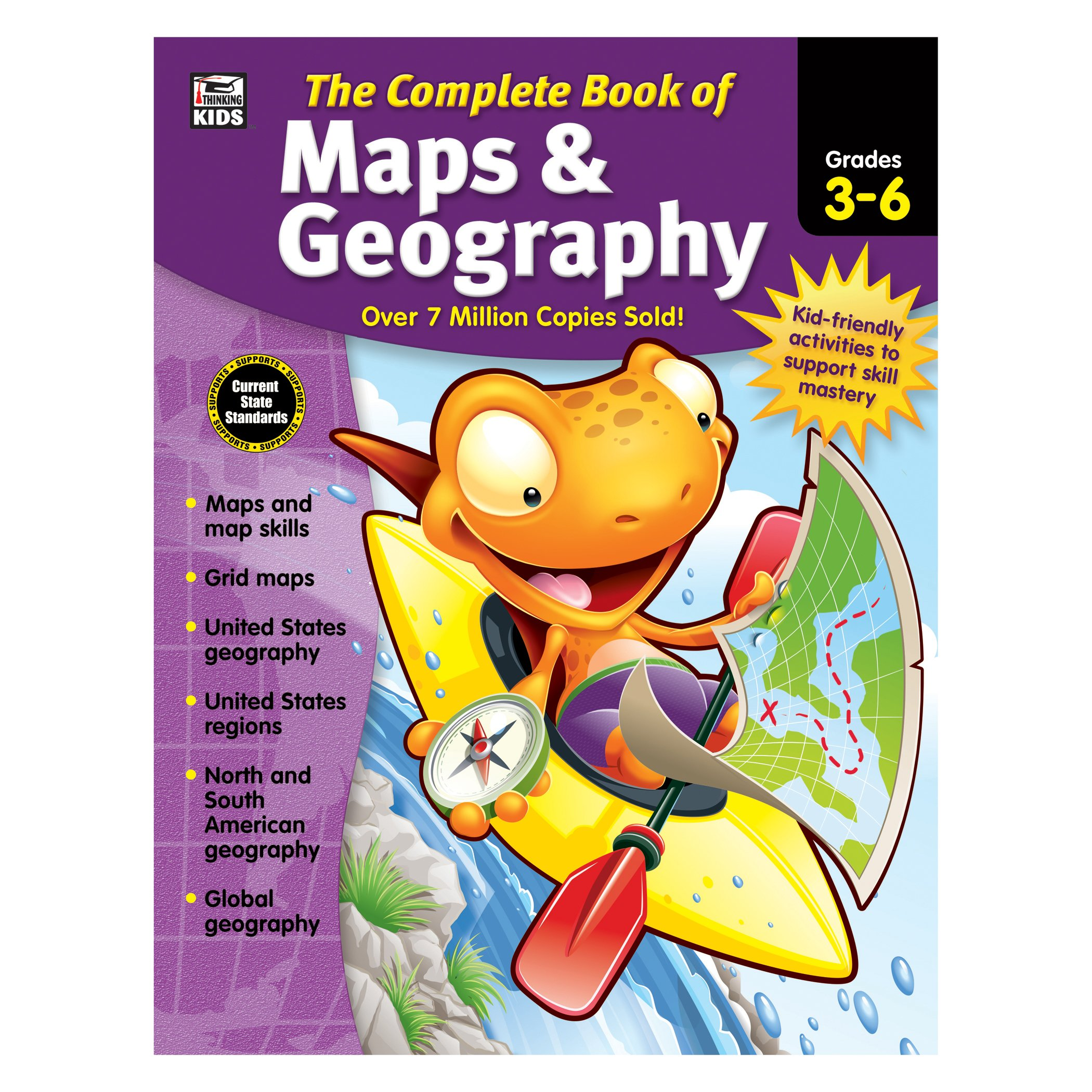 The Complete Book of Maps & Geography, Grades 3 - 6 by Carson-Dellosa (Image #1)