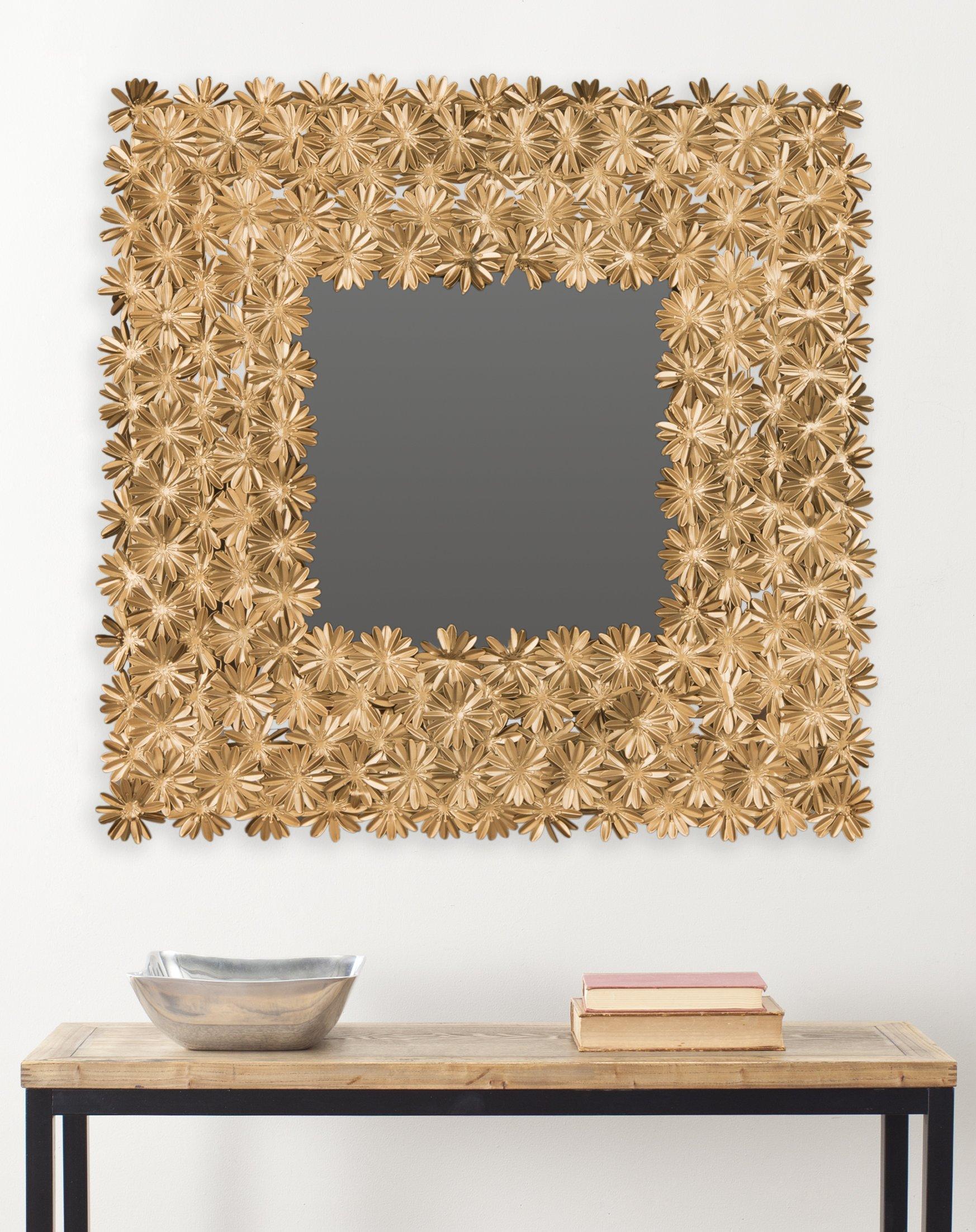 Safavieh MIR4055A Home Collection Crown Daisy Mirror, Antique Gold