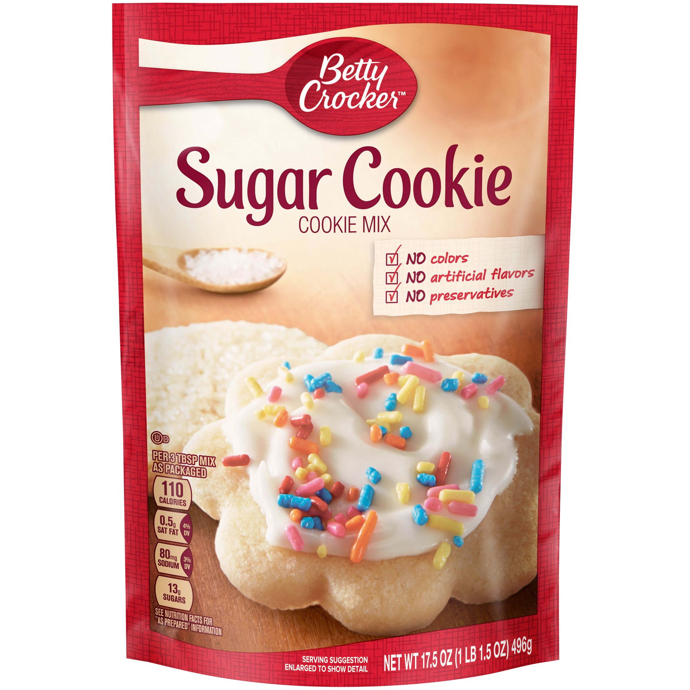 Betty Crocker Baking Mix, Sugar Cookie Mix, 17.5 Oz Pouch