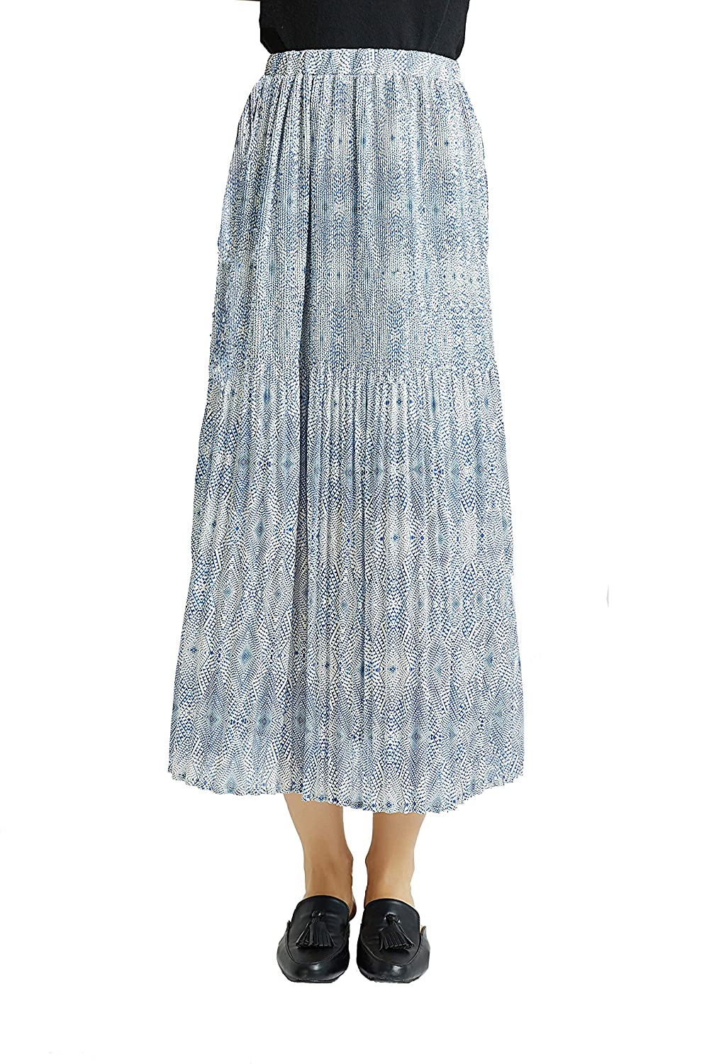 6b3b76f93d Popular Maxi Skirt with Fancy Floral Print,Pleated on half, With Chiffon  lining,No seeing through . Elastic waistband gives you easy-to-wear comfort  ...