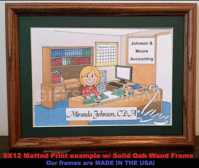Secretary Gift Personalized Custom Cartoon Print 8x10 9x12 Magnet or Keychain