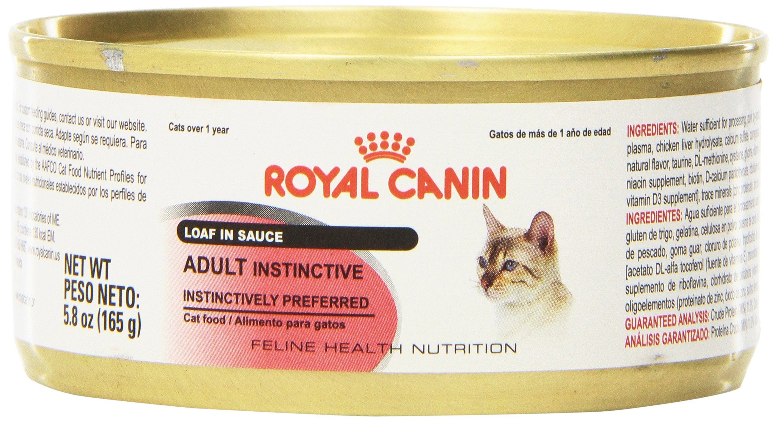 Royal Canin Feline Health Nutrition Adult Instinctive Loaf in Sauce Canned Cat Food (24 Pack), 5.8 oz/One Size