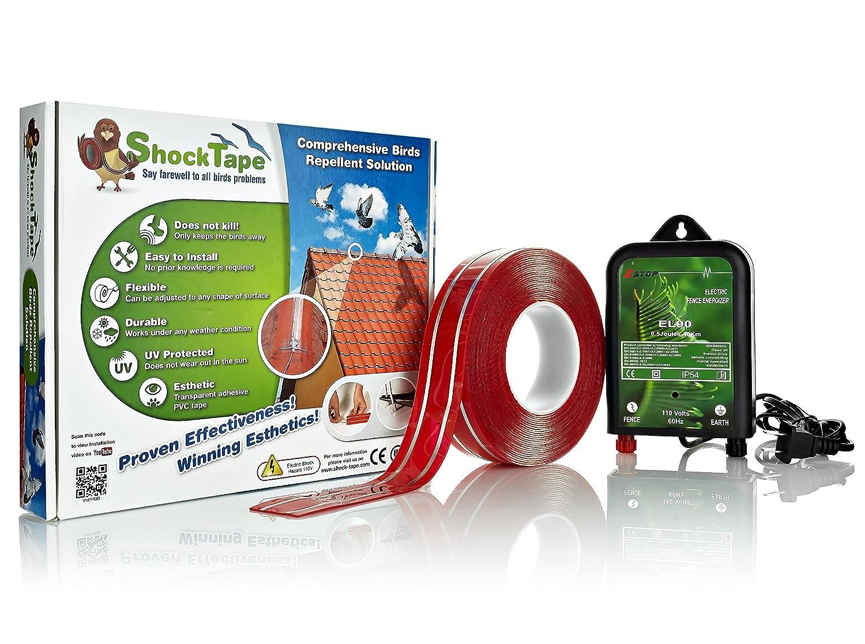 Shock Tape - Elektrisches Impulssystem zur Vogel- und Taubenabwehr - DIY-Set