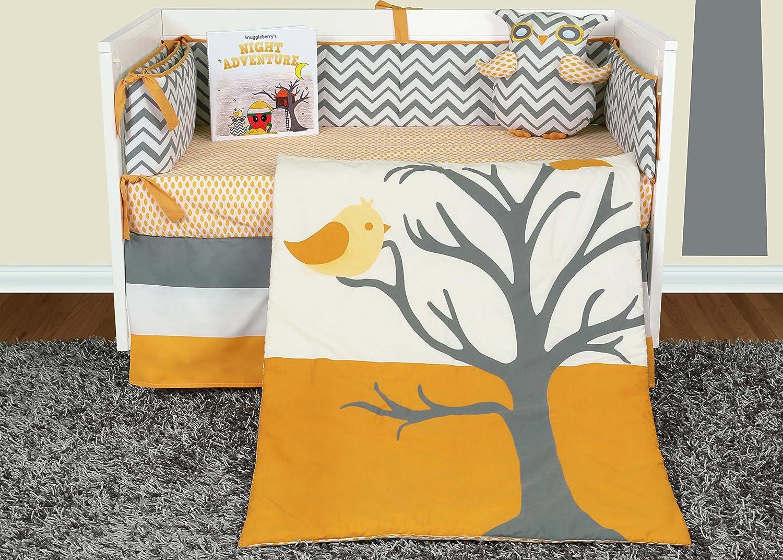 Orange owl crib bedding - Amazon Com Snuggleberry Baby Nightie Night Owl 6 Piece Crib Bedding Set With Storybook Baby