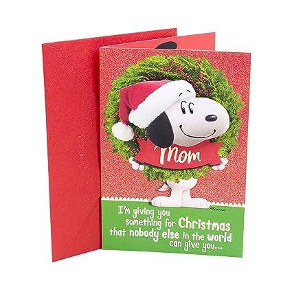 Amazon hallmark 0399xxh4594 christmas greeting card for mom hallmark 0399xxh4594 christmas greeting card for mom snoopy wreath m4hsunfo