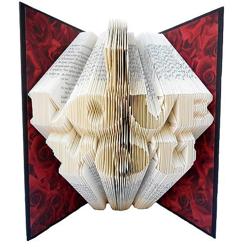 Hand Folded Book Art Sculpture