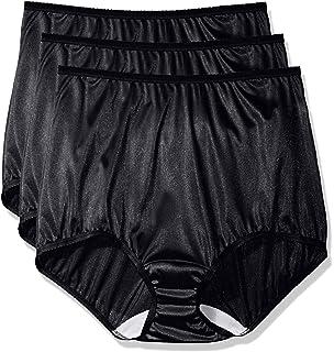 0a1a6474650 Shadowline Women s Plus-Size Panties-Hi Cut Nylon Brief (3 Pack) at ...